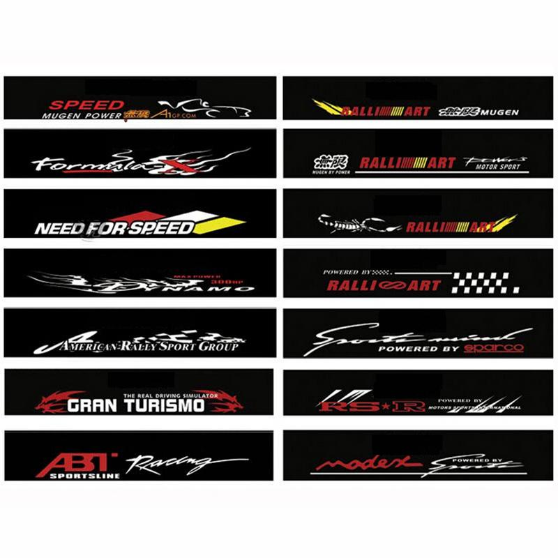 Waterproof Auto Car Front Window Windshield Decal Sticker For - Honda civic decal stickers