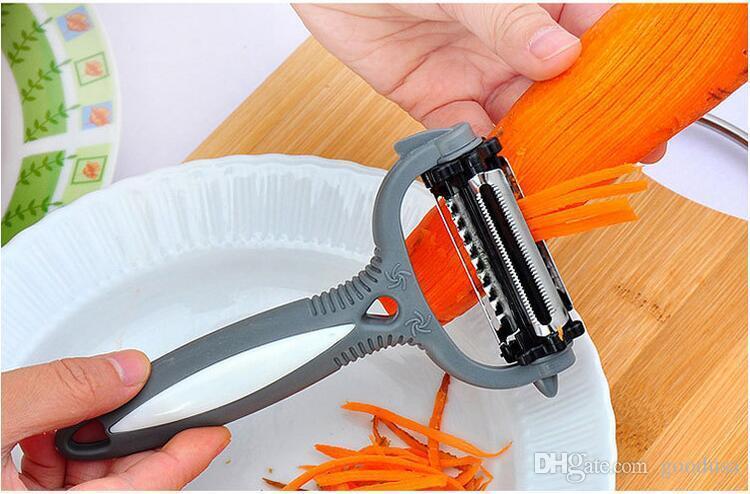 4 em 1 Rotary Peeler 360 Graus Cenoura Batata Abridor de Laranja Vegetal Frutas Slicer Cortador de Acessórios de Cozinha Ferramentas via dhl