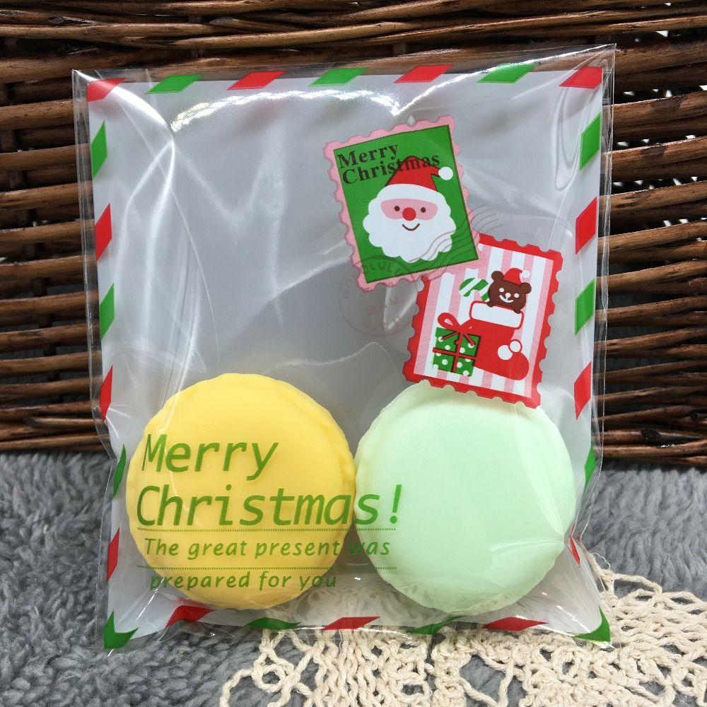Wholesale Christmas Slef Adhesive Gift Bag, Cute Christmas Santa ...