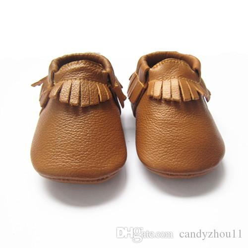 b27fdd121 The best selling color Ginger baby moccasins soft leather moccasin shoes  infant toddler baby shoes with tessels baby shoes with fringe