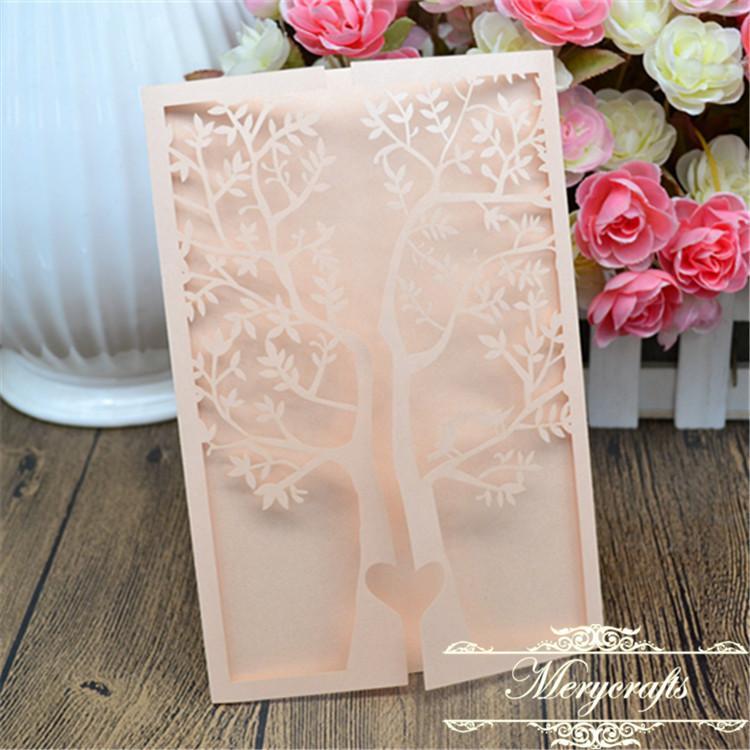 Wholesale Simple Handmade Design Laser Cut Peach Engagement Tree ...