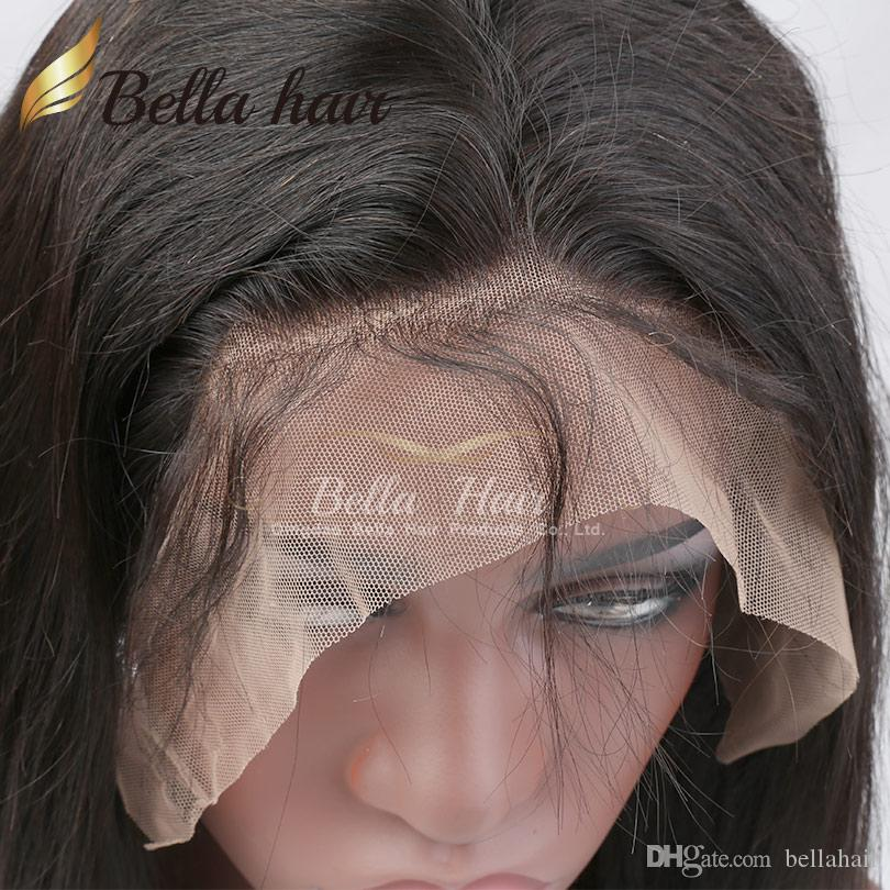 360 Lace Frontal med keps 22x4
