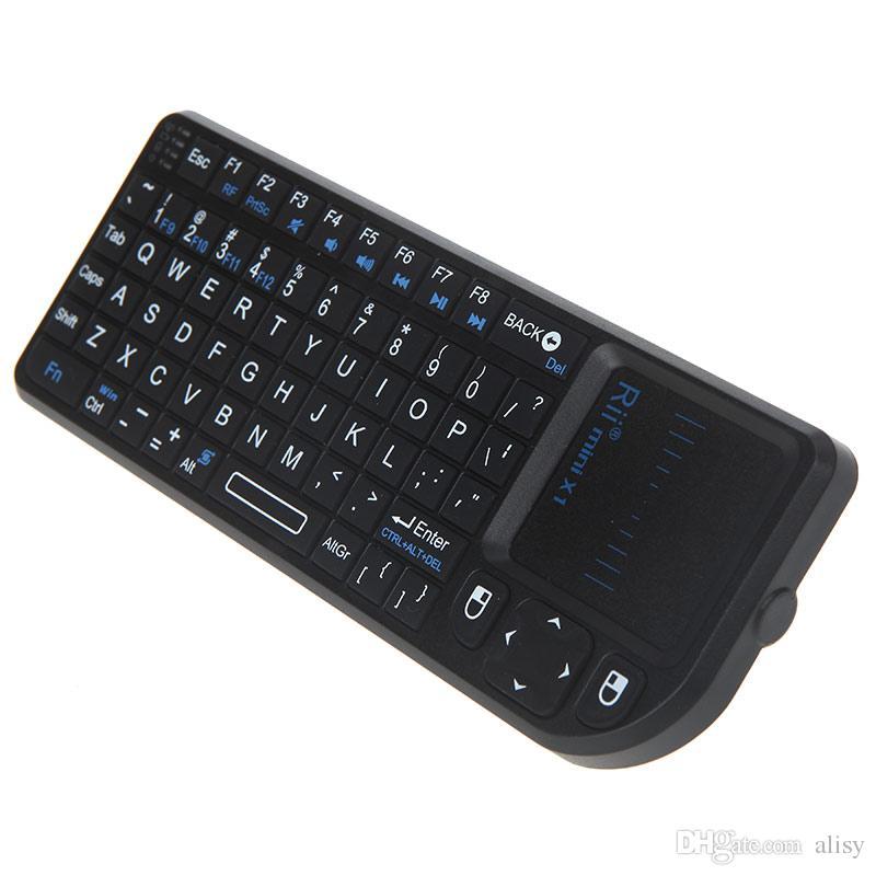 Rii البسيطة x1 الهواء الماوس المحمولة 2.4 جرام لوحة اللمس اللاسلكية الهواء ماوس الألعاب لوحات المفاتيح لأجهزة الكمبيوتر المحمول الدفتري الذكية التلفزيون الروبوت التلفزيون مربع