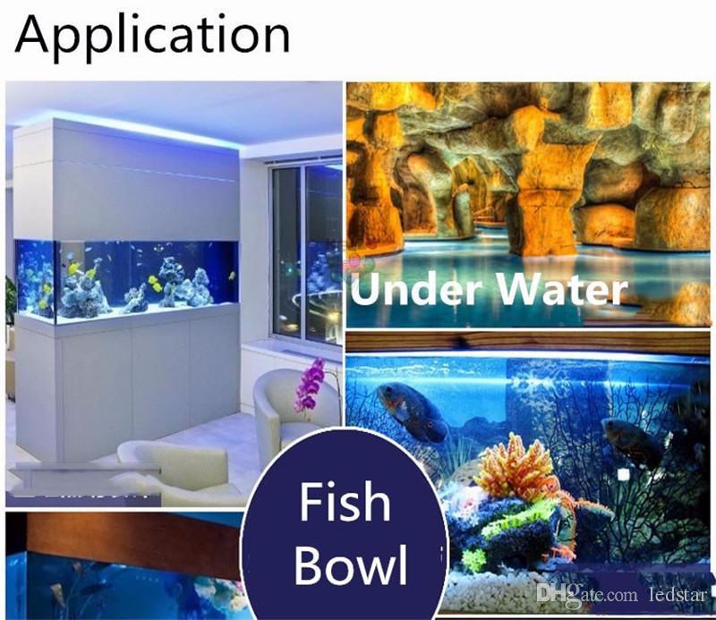 Silikon Cannula IP67 Su Geçirmez 5050 5 M LED Şerit işık DC12V 60 LEDs / M Şerit Bant Dekorasyon Yüzme Havuzu / Balık Tankı / Banyo