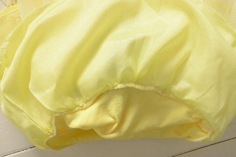 Autumn 2016 New Fashion Infant Girls Yellow Pink Beige Long Sleeve Dress Flower Belt Tutu Dress 100% Contton Korean Style Cute Dress Q0447