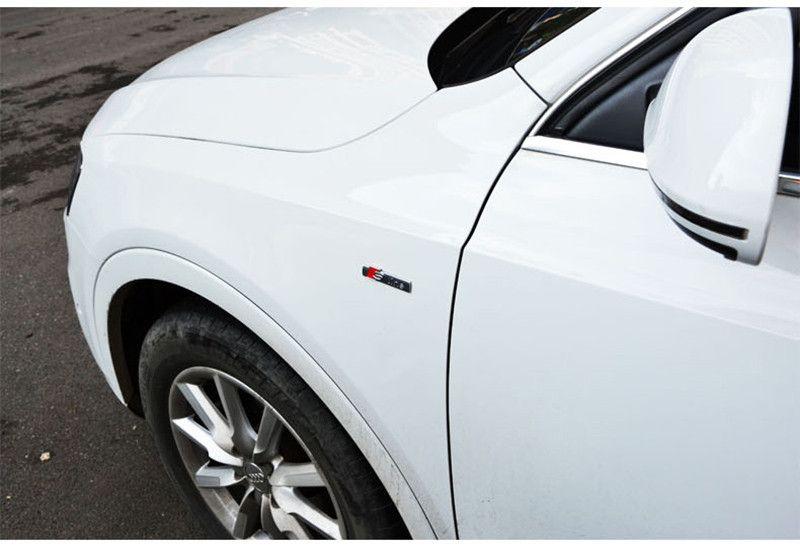 3D Metal Sline S linea Fender Emblem Decal Sticker Badge Car Styling Audi A1 A3 A4 A5 A6 A7 A8 Q3 Q5 Q7 S3 S4 S5 S6 S7 S8 TT