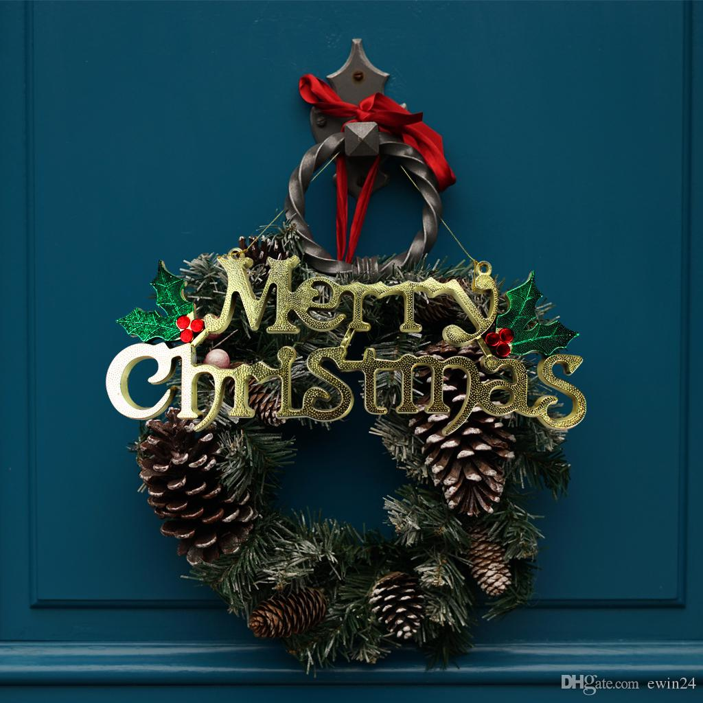 Karte Weihnachten.Grosshandel Frohe Weihnachten Alphabet Brief Karte Weihnachten Ornamente Weihnachtsbaum Dekorationen Fur Haustur Fenster Hof Garten Von Ewin24 1 28