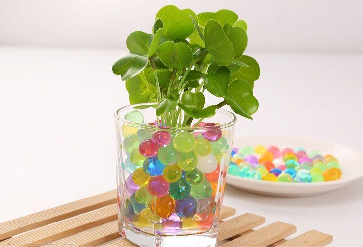 Wasserperlen 10000g Magisches Gel-Kristallboden-Schlamm-Wasser bördelt Perlen-Edelstein für Blumen-Pflanzen # 16