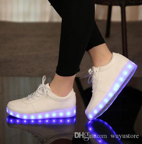 7f1ef689951 Size 25 45 USB Charging Tenis Led Feminino Basket Led Light Up Trainers  Kids Boy Girl Luminous Glowing Shoes Size 5 Toddler Boots Boots Childrens  From ...