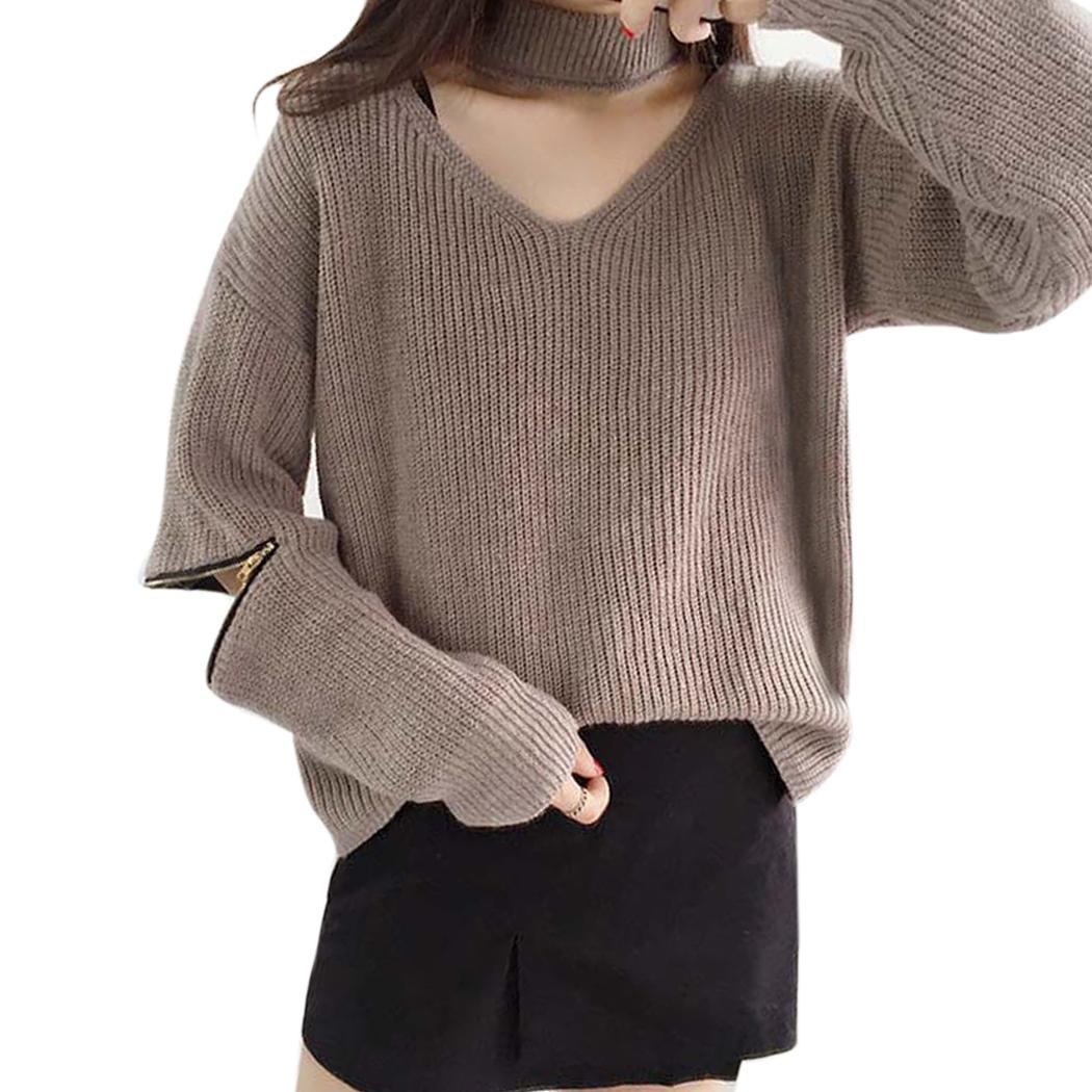 Wholesale- Cashmere Sweaters Women Autumn Winter Halter Knitted ...