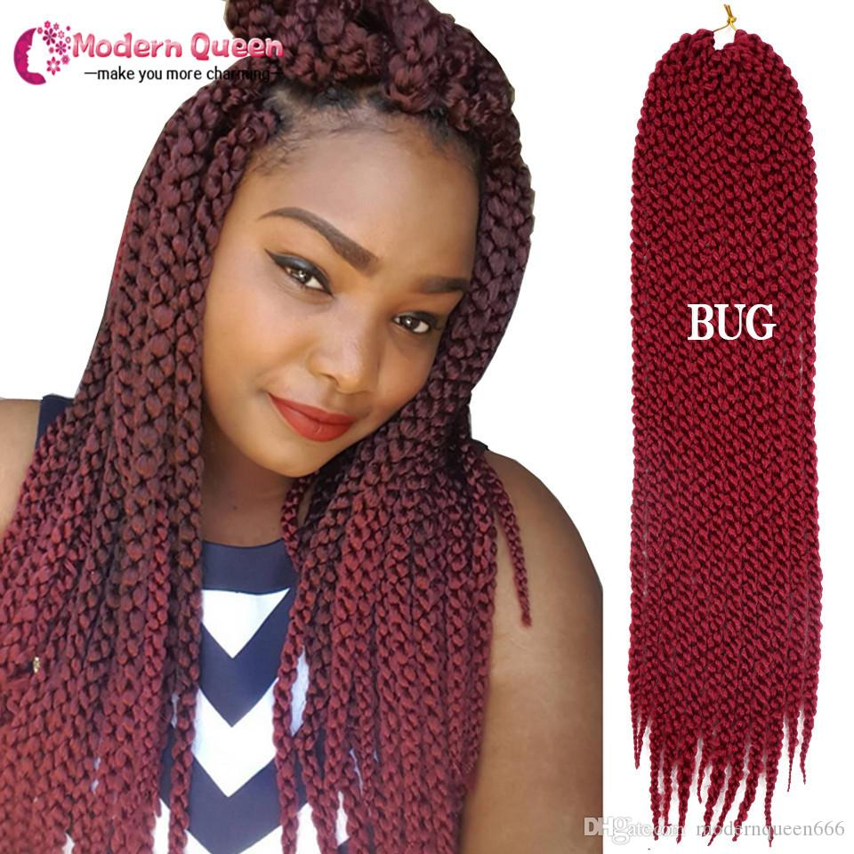 3D Cubic Twist Crochet Braids 120g 22inch Synthetic braiding hair Afri Naptural Ombre Mambo Senegalese Twist Hair Extensions