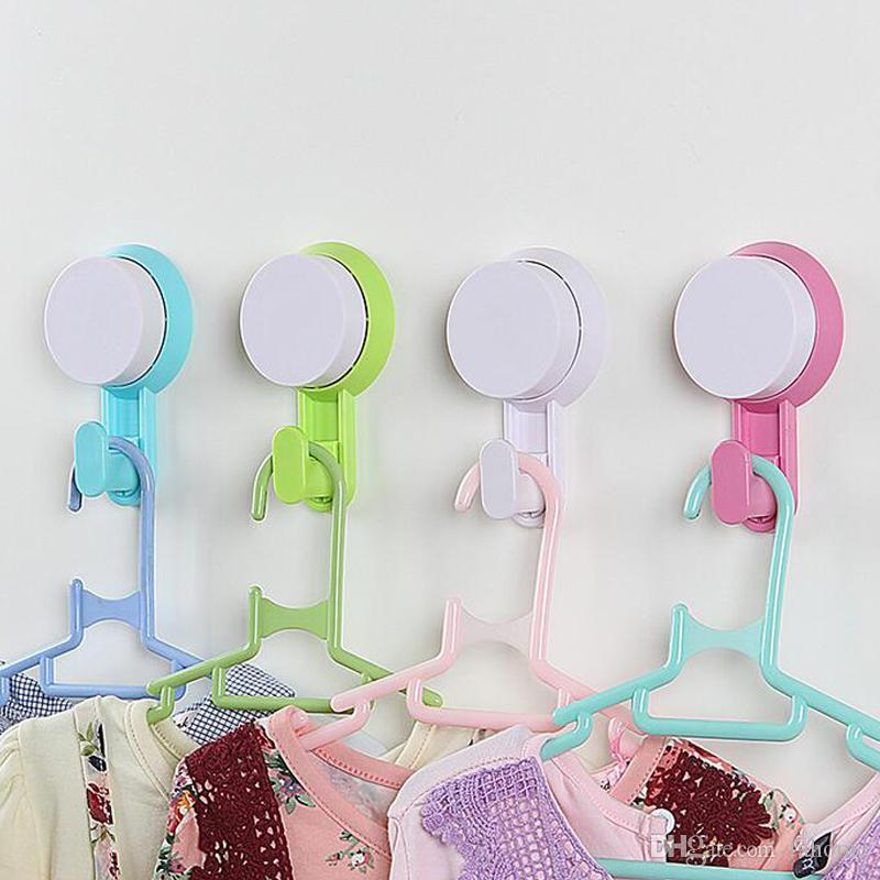 2018 Diy Kitchen Bathroom Wall Hooks For Clothes Towel Wall Hook, Plastic  Strong Suction Cup Key Hat Bag Hanger Rack Holder From Fahome, $1.25 |  Dhgate.Com