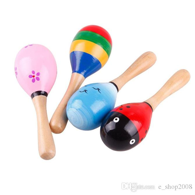 حار بيع طفل لعبة خشبية حشرجة طفل لطيف راتل لعب أورف الآلات الموسيقية ألعاب تعليمية