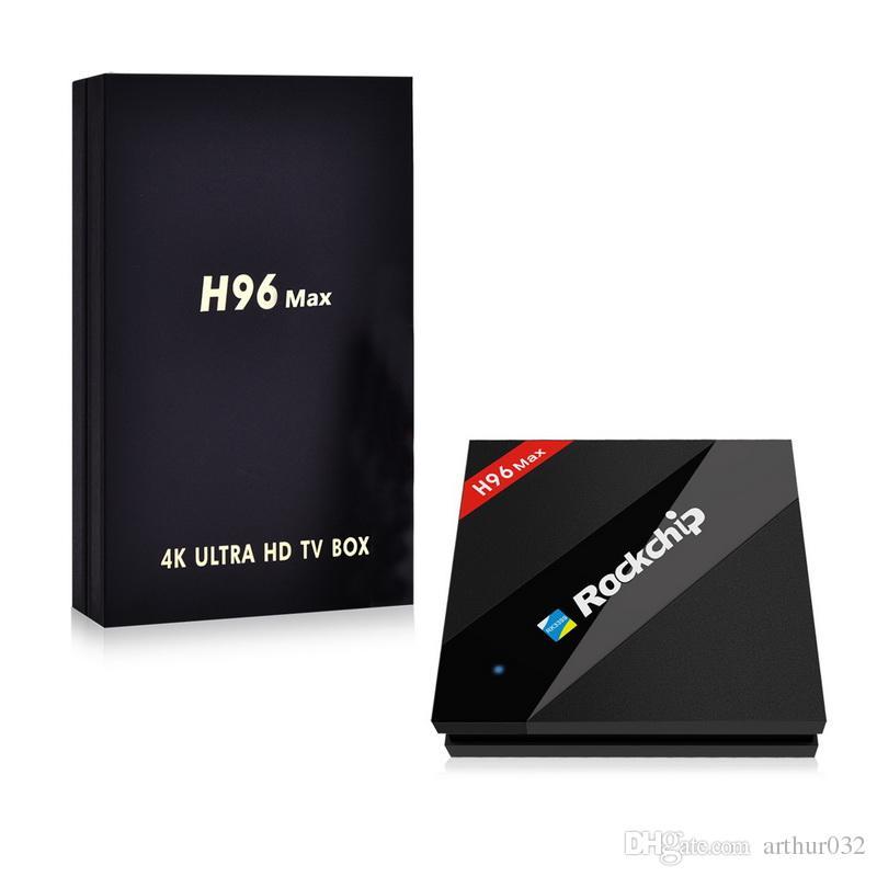 H96 Max 4GB/32GB Rockchip RK3399 Six Core Android 7.1 TV Box 2.4/5.8G WiFi BT4.0 H.265 4K 1000M LAN USB3.0 Type-C Media player