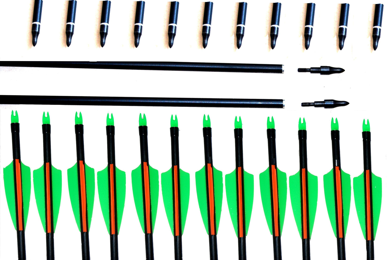 32 28 Spine550 Con Flecha De Fibra De Vidrio Azul Flecha Para Arco ...