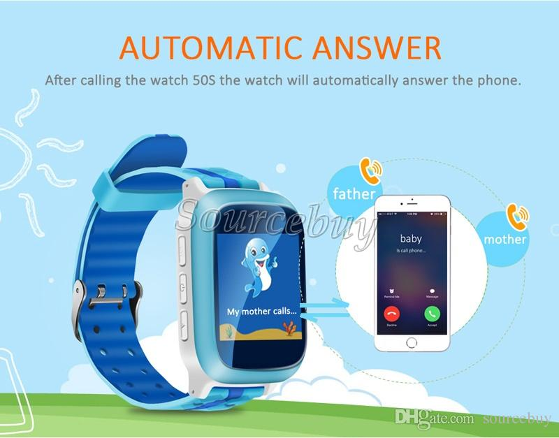 IP65 Waterproof Kids Watches DS18 Fashion Design Tempered Glass Screen Dial SOS Help LBS GPS Location Sleep Traker Wifi SIM Child Baby Watch