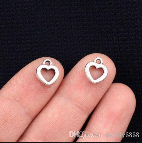 Pendenti di fascini di amore del cuore dell'argento di monili che fanno 12x10mm