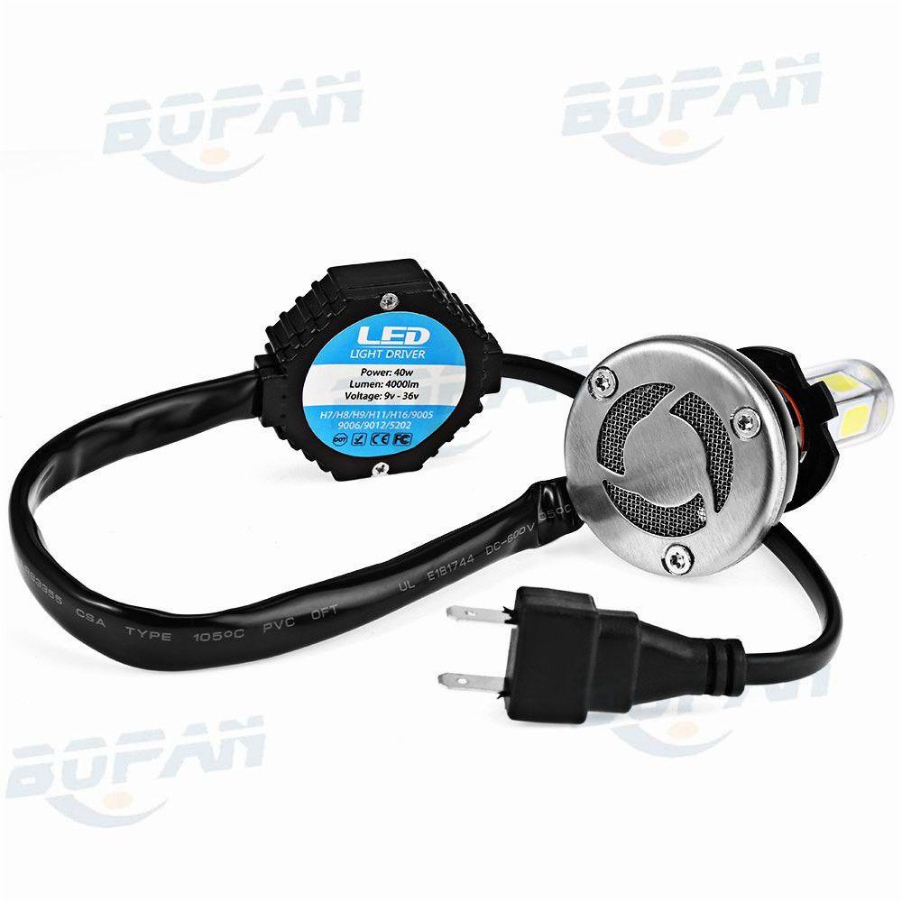 Auto Headlight LED Light Headlamp Car Auto Conversion Bulb Kit 6000K 40W 4000LM H7 Super Bright White Lamp for Vehicle