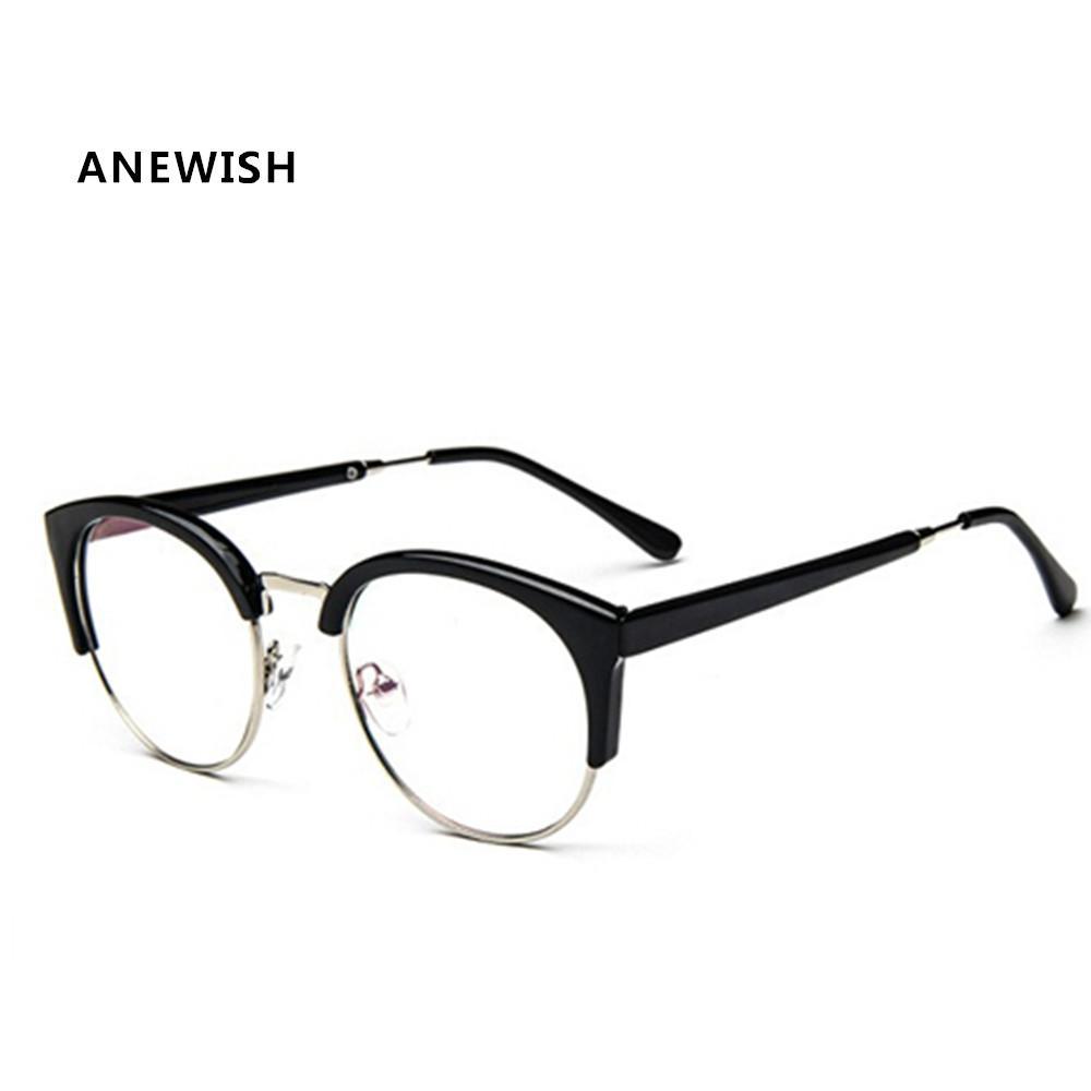 435d9b605e5 Wholesale- ANEWISH 2017 Brand Designer Fashion Anti-Radiation Eyeglasses  Myopia Vintage Optical Glasses Frame Plain Eye Glasses  AB4 Vintage Optical  Glasses ...