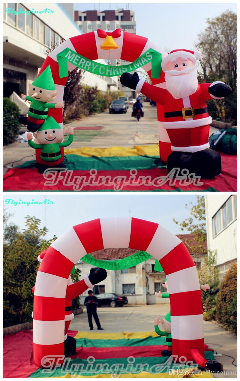 Arc gonflable de Noël de 3m avec Santa Elf pour enfants