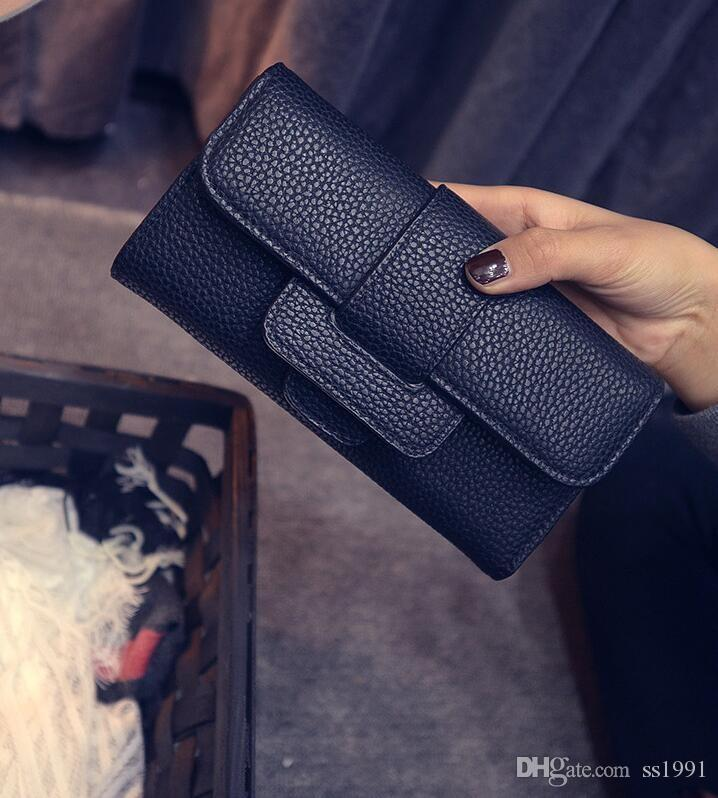 Frauen PU Leder Brieftasche Casual Style Frauen Geldbörsen Lange Design Clutch Geldbörse Carteira Feminina Kreditkarteninhaber