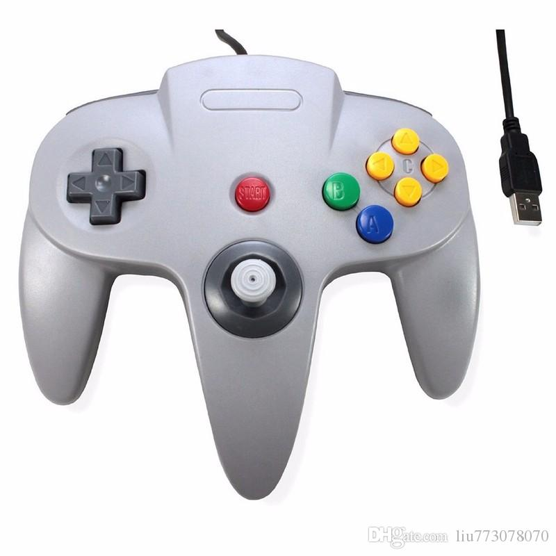 hot wired usb game wired joystick controller gamepad for nintendo for gamecube n64 style pc mac. Black Bedroom Furniture Sets. Home Design Ideas