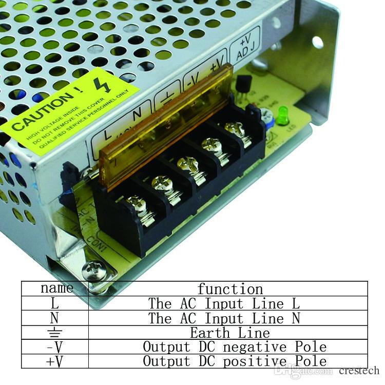 Trasformatore corpo in alluminio 24V DC24V Alimentatore led 25W 40W 70W 120W 240W 360W 480W 600W AC110V / 220V imput led interruttore di alimentazione