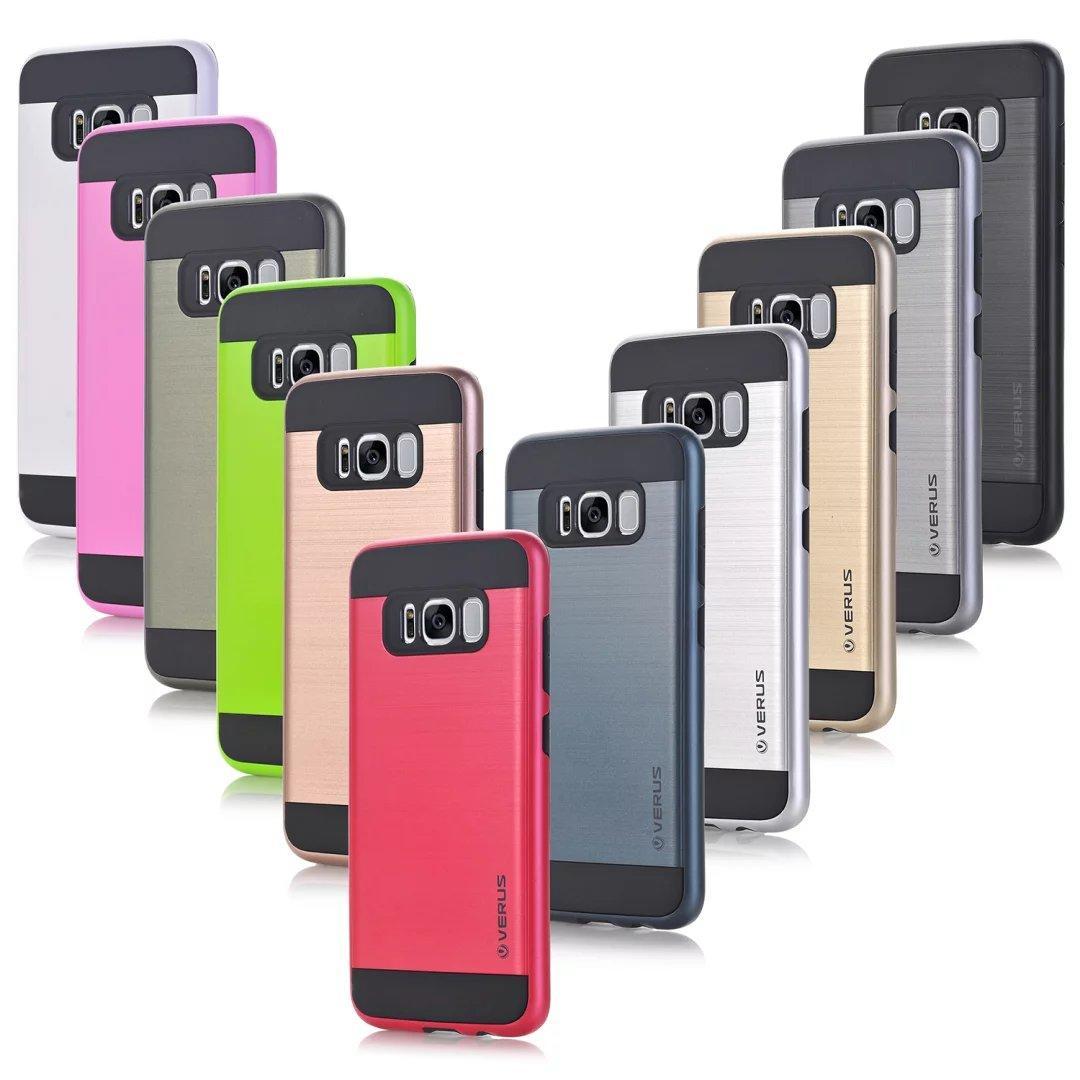 Vero spazzolato ibrida Iphone 12 11 XS MAX XR 8 X 6 7 Galaxy S20 Nota 10 9 S10 copertura armatura robusta antiurto dura del PC + TPU Beetle Slim