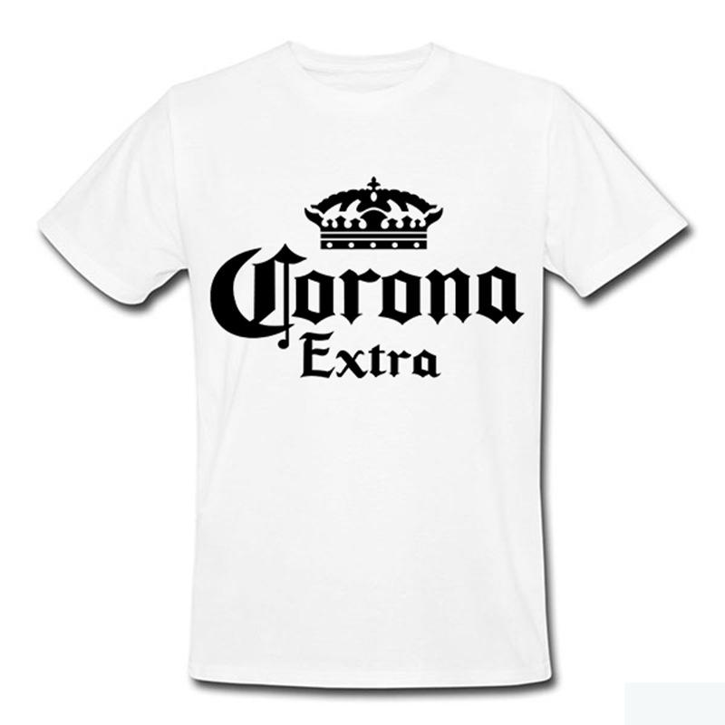a144e5f78f0 Brand Fashion Beer Corona Extra Band T Shirt Men Fitness High Quality  Cotton Short Sleeve Crossfit Tshirts Design Your Own T Shirts Womens Shirt  From ...