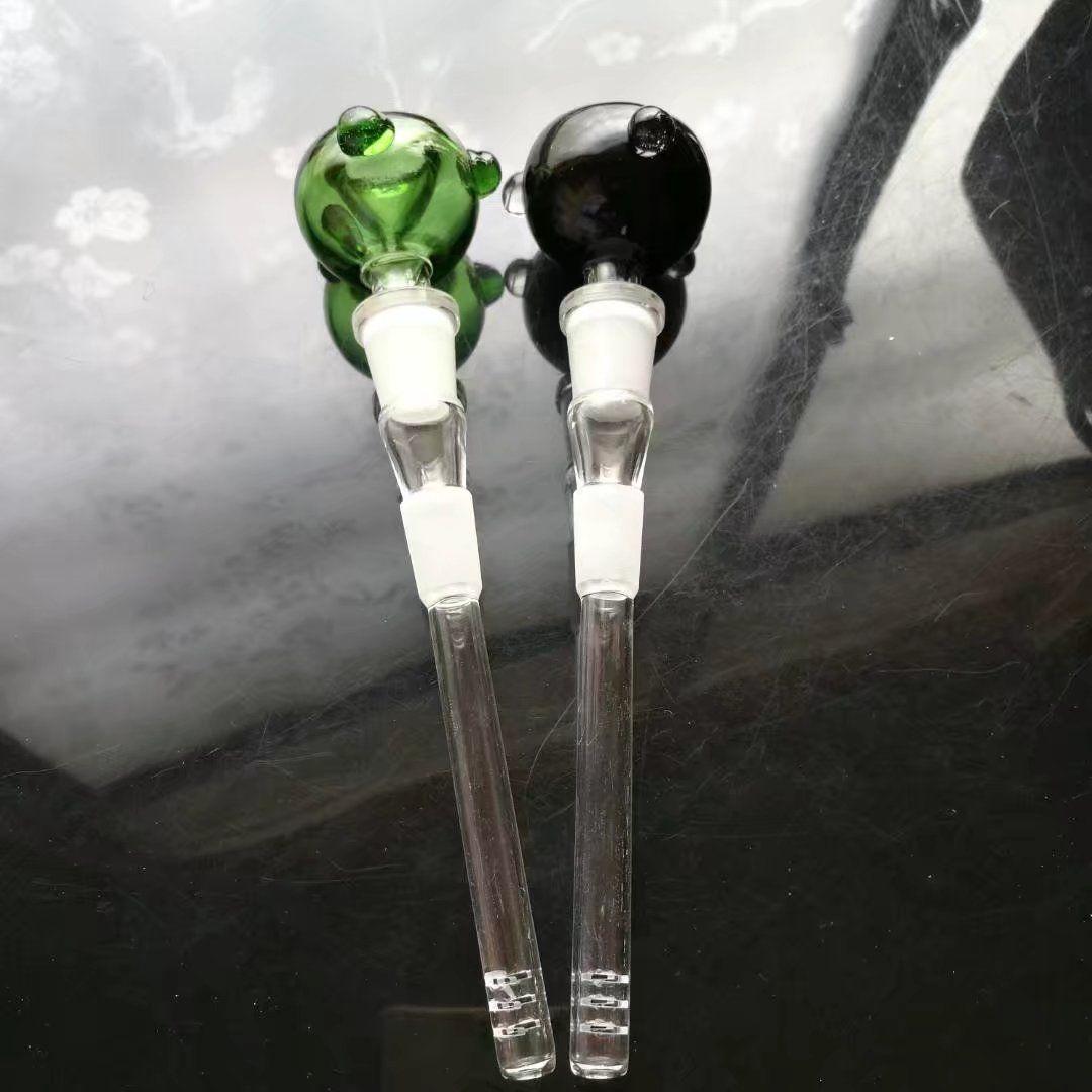 Accesorios de bengalas de vidrio multicolor Cabezal de espuma de 14 mm, tubos de agua bongs de vidrio hooakahs dos funciones para plataformas de aceite bongs de vidrio