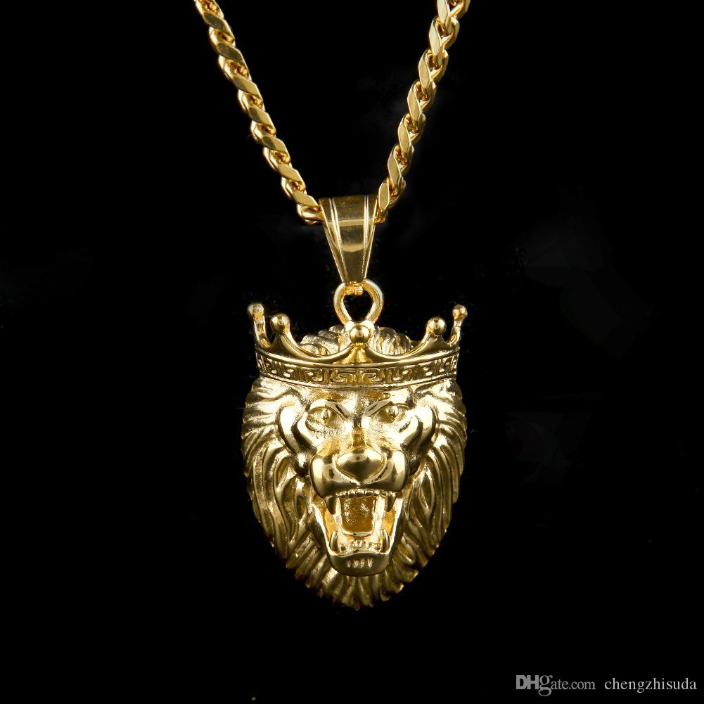 Wholesale 2017 stainless steel gold tone king wolf pendant necklace wholesale 2017 stainless steel gold tone king wolf pendant necklace hip hop rapper rock style trendy gold plated charm pendant jewelry gold jewellery aloadofball Choice Image