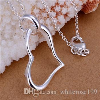 Hurtownie - detaliczna najniższa cena Boże Narodzenie prezent 925 srebrny moda biżuteria darmowa wysyłka naszyjnik P080