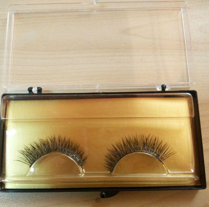 Wholesale Mink Hair Eyelashes 3D Strip Lash Pure Handmade Fake EyeLash Extension 001# Demi Natural Crisscross Curl Wispies False Eyelashes