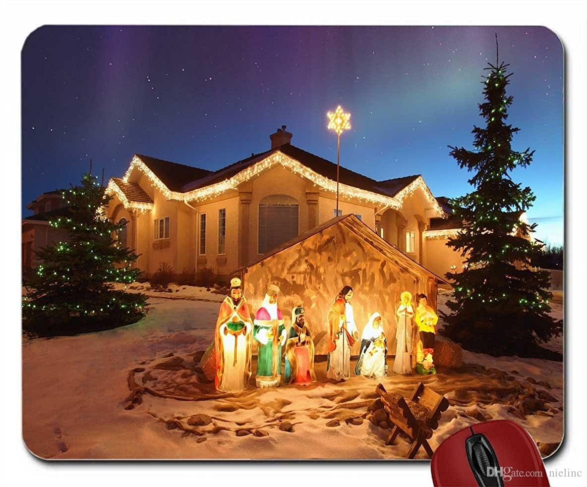 outdoor christmas nativity scene wallpaper mouse pad computer mousepad keyboard pads keyboard rest from nielinc 684 dhgatecom