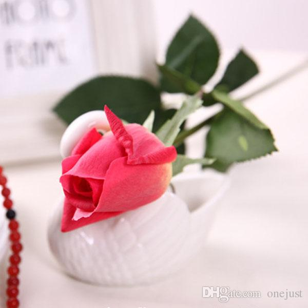 Hot Sale Artificial Fake Silk Rose Flowers Bridal Wedding Bouquet Bunch Home Decor E00594 OSTH