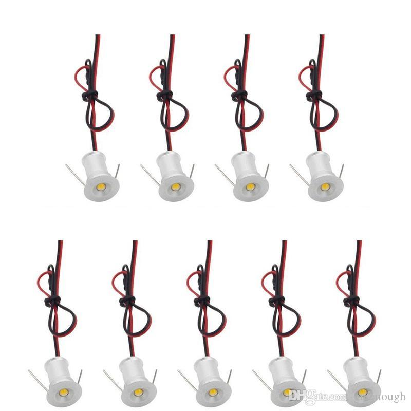 DHL 1 W 15mm Mini LED Downlight LEVOU Sob Luz Do Armário Da Escada Luzes Mini Recesso Spotlight Branco Vermelho Azul Verde
