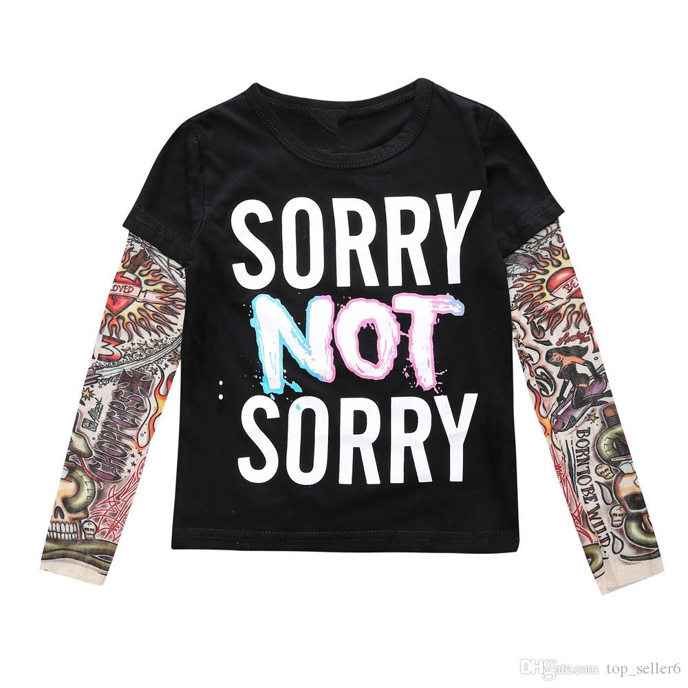 ec3489c4ea0d INS Kids Autumn Baby Clothes Boys Girls Long Sleeve T Shirt ...