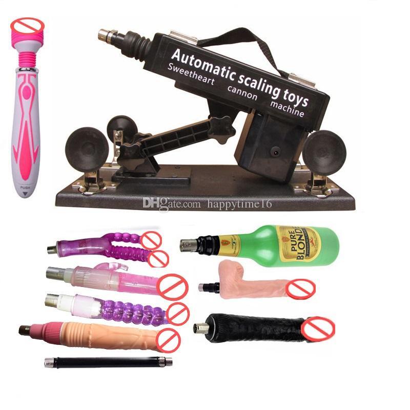 Happytime16 обновленная версия мощный двигатель тихий машина секс-игрушки для мужчин и женщин автоматическая секс-машина фаллоимитатор пистолет набор с аксессуарами