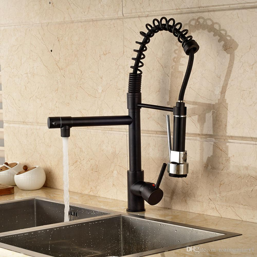 2019 oil rubbed bronze kitchen faucet swivel spout single lever single hole sink deck mount mixer tap from rozinsanitary1 98 5 dhgate com