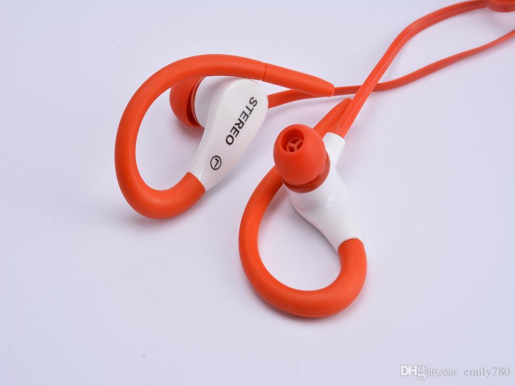 Ohrbügel Universal-Ohrhörer mit Mikrofon Sport Headset Musik starken Bass JY-A3 In-Ear für iPhone Samsung Handy mp3 Flachkabel