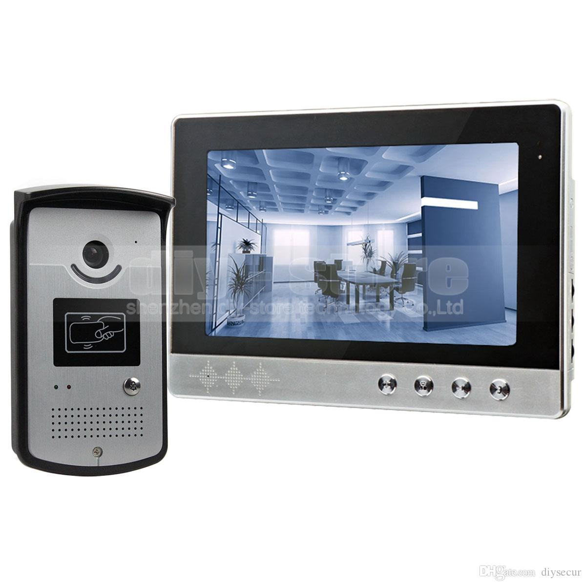 front door intercom10 Inch Wired Video Door Phone Doorbell Home Security Intercom