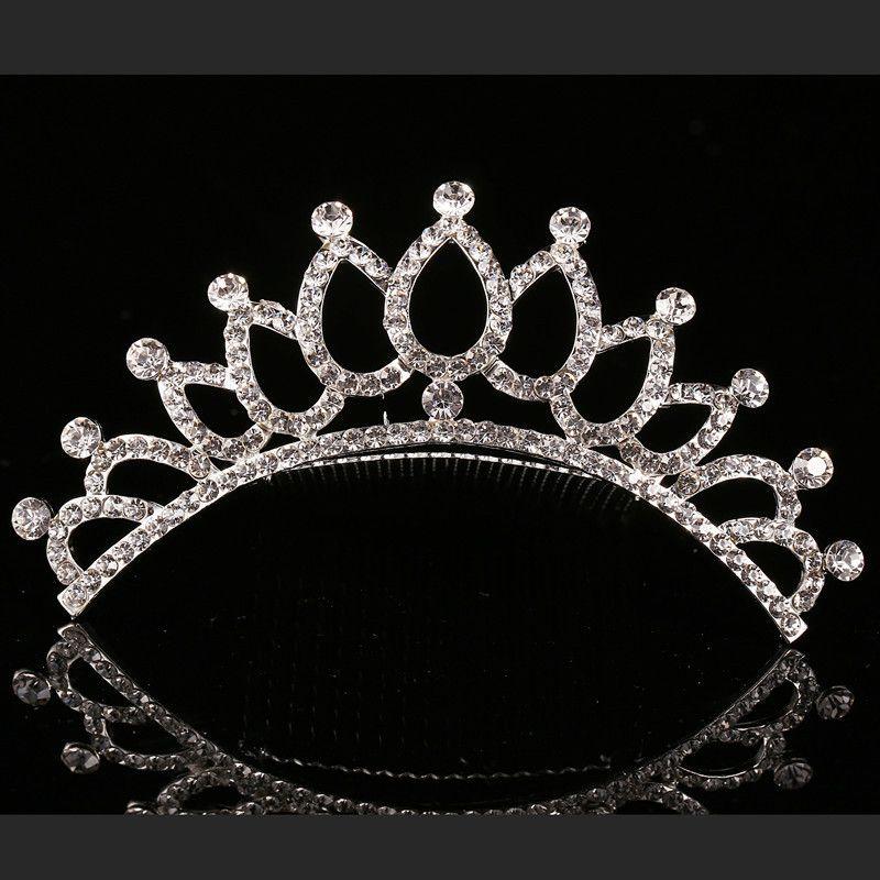 2018 Trendy 10 Styles Cheapest Shining Rhinestone Crown Girls' Bride Tiaras Fashion Crowns Bridal Accessories For Wedding Event