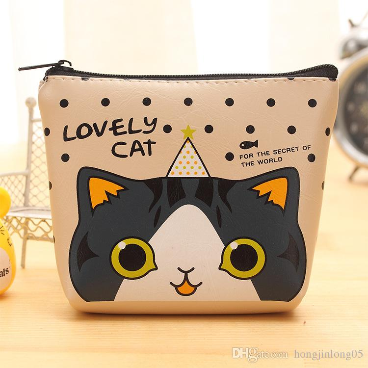 2017 New Brand Women Girls Cute Cat Fashion Coin Purse Silicon Wallet Bag Change Pouch Key Holder Perfect Gift