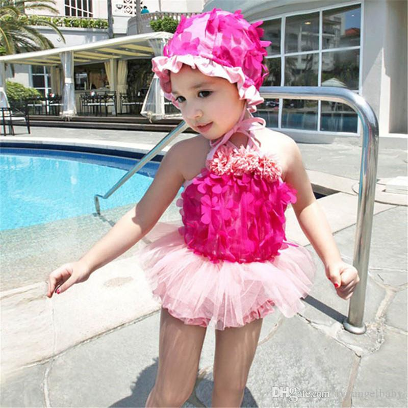 c1f72683f2eb3 New Cute Princess Lace Baby Girl Swimwear Little Girl Tulle Two ...