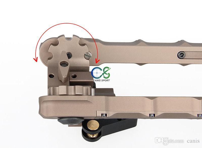 Nuovo arrivo Tactical SR-5 Quick Stach BiPod Alluminio Alta Picatinny Weaver BiPod accessori tattici all'aperto CL17-0029