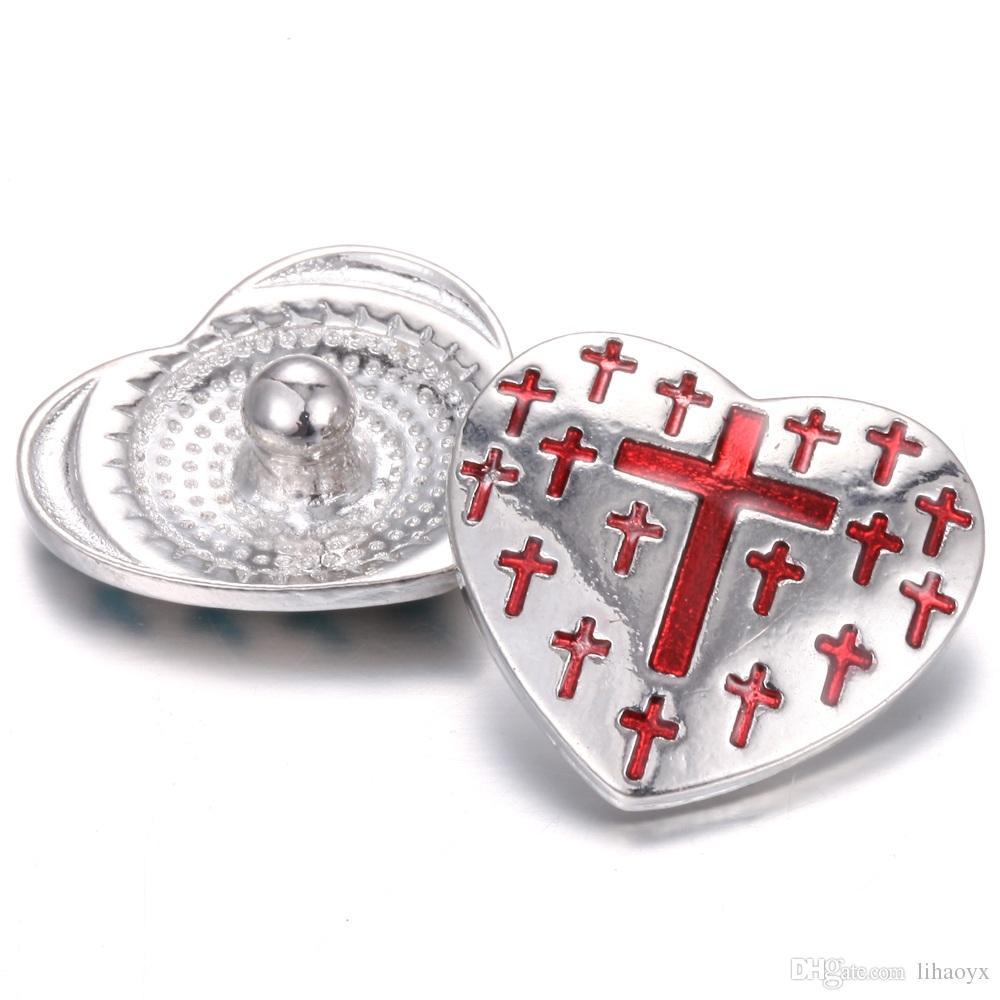 Bottone a pressione in metallo 18mm con bottone a pressione gioielli con bottone a pressione da 18 mm