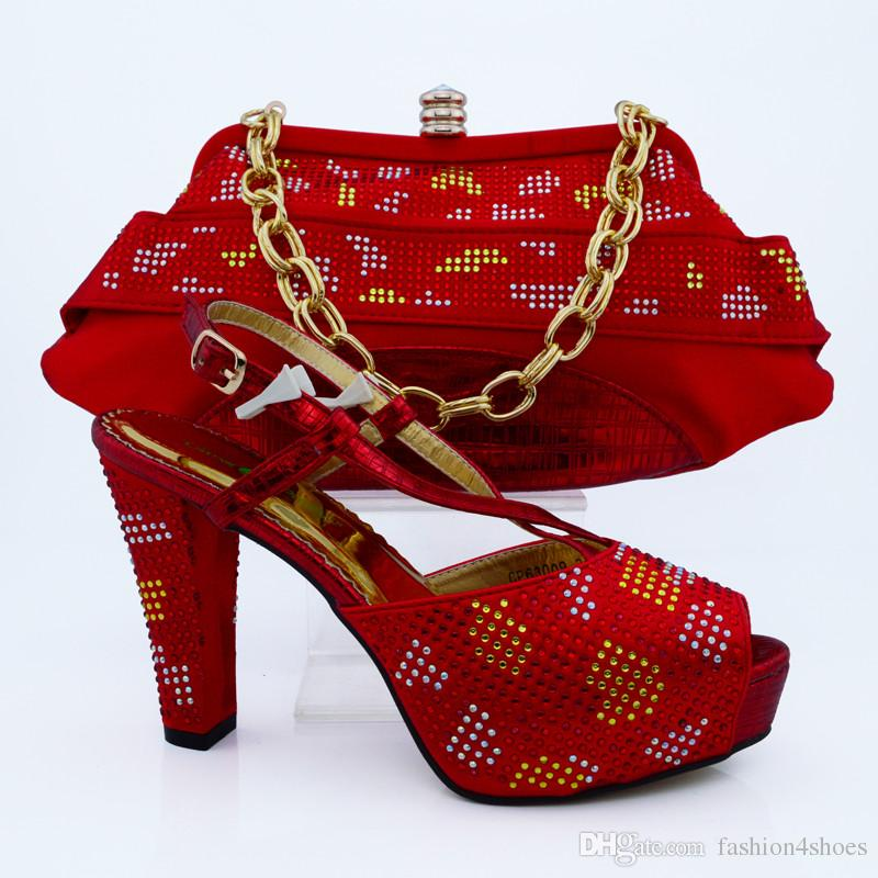 CP63009 New Arrival FUCHSIA Color Shoes And Bag Set Decorated with ... 6c3c7c97f197