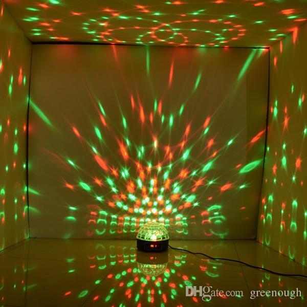 RGB Sound-activated LED Crystal Magic Ball Light LED Laser Light Disco Stage Lighting Magic Ball Effect Light For Party