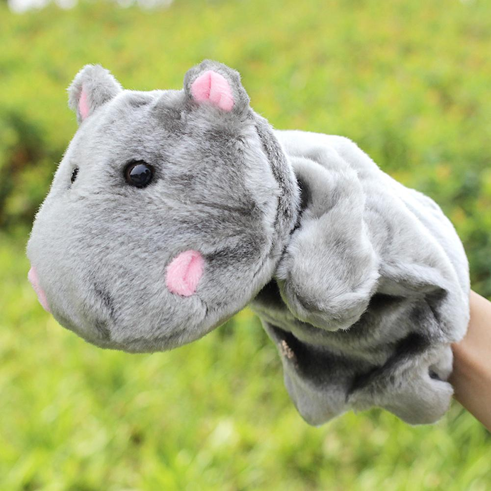 Cute Hippopotamus Hand Puppet Plush Doll Toy Baby Kids Child Educational Soft Doll Plush Hand Puppet Toy