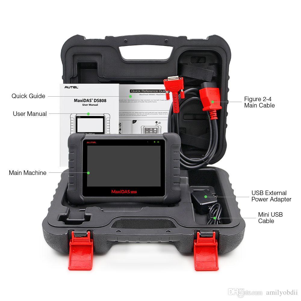 Nueva llegada Autel Maxidas DS808 Actualización en línea Herramienta de diagnóstico automotriz Potente DS 808 Escáner Autel DS808 mejor que Autel DS708